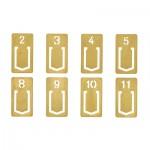 味わいのあるブラス(真鍮)シリーズ クリップナンバー