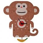 Modern Moose(モダンムース) 3D壁掛け時計 楽しいアニマル振り子時計
